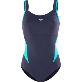 arena Makimurax One Piece Swimsuit Dames, navy-persian green